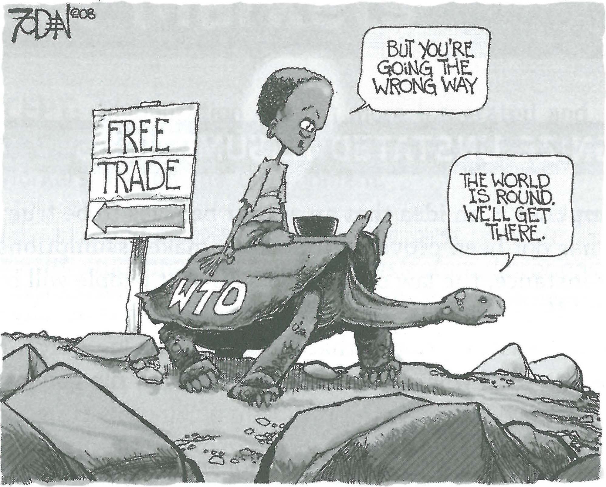Free Trade Political Cartoon